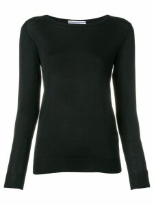 Cristaseya boat neck jumper - Black