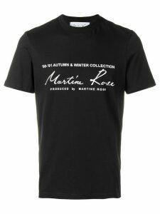 Martine Rose printed logo T-shirt - Black