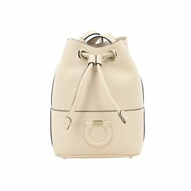 Salvatore Ferragamo Mini Bag Salvatore Ferragamo City Hook Bucket Bag In Textured Leather