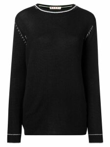 Marni contrast stitch jumper - Black