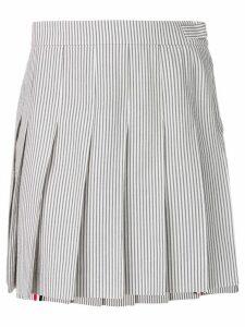 Thom Browne Seersucker Mini Pleated Skirt - Grey