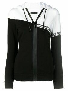 Philipp Plein logo print hoodie - Black