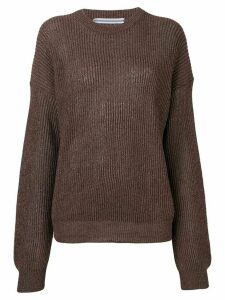Cristaseya round neck jumper - Brown