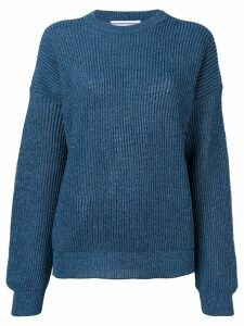 Cristaseya round neck jumper - Blue