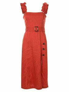Suboo belted midi dress - ORANGE