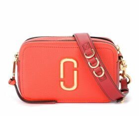 The Marc Jacobs Softshot 21 Model Shoulder Bag In Red Textured Leather