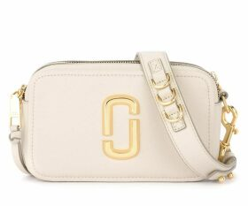 Marc Jacobs The Softshot 21 Model Shoulder Bag In Cream Grained Leather
