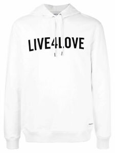 Ports V slogan hoodie - White