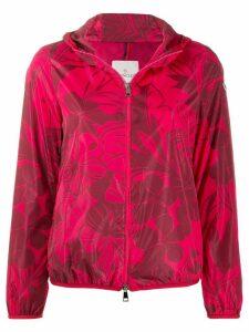 Moncler floral-print jacket - PINK