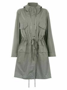 Gloria Coelho hooded trench coat - Grey