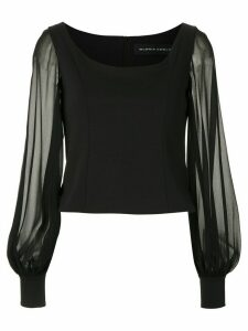 Gloria Coelho long sleeved blouse - Black