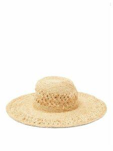 Avenue The Label - Cetara Wide-brim Straw Hat - Womens - Beige