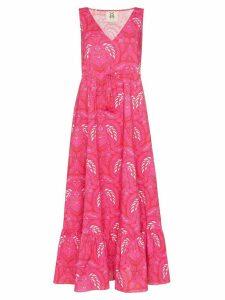 Figue Indira batik-print maxi dress - PINK