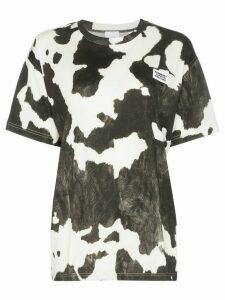Burberry Carrick cow-print T-shirt - Black