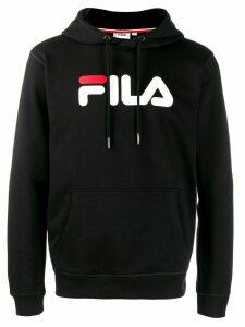 Fila logo print hoodie - Black