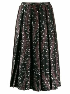 Marco De Vincenzo embroidered flared skirt - Black