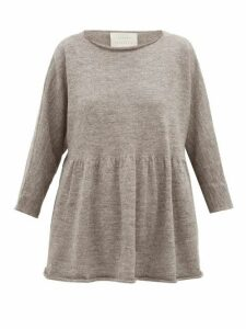 Lauren Manoogian - Raw-edged Alpaca-blend Top - Womens - Grey