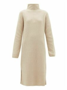 The Row - Funnel-neck Ribbed Wool-blend Sweater Dress - Womens - Ivory
