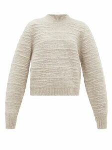 The Row - Nuru Wool-blend Bouclé Sweater - Womens - Light Grey