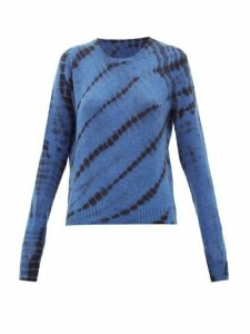 The Elder Statesman - Tie-dyed Cashmere Sweater - Womens - Blue Multi