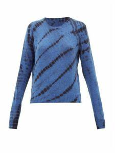 The Elder Statesman - Tie-dyed Cashmere Sweater - Womens - Blue Multi