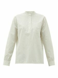 A.P.C. - Amandine Checked Cotton-poplin Shirt - Womens - White Multi