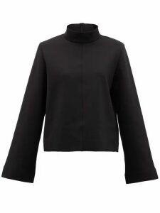The Row - Munie Funnel-neck Scuba-jersey Top - Womens - Black