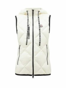 Moncler - Quilted Soft-shell Gilet - Womens - White