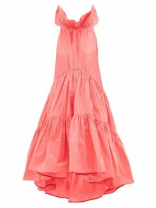 Roksanda - Alessa Ruffled Cotton-blend Tafetta Gown - Womens - Pink