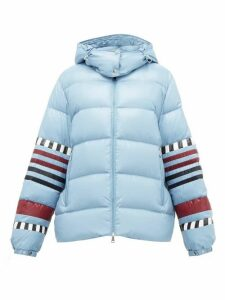 1 Moncler Pierpaolo Piccioli - Anna Striped Down-filled Jacket - Womens - Blue Multi