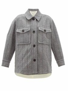 Isabel Marant Étoile - Garvey Striped-wool Shirt Jacket - Womens - Grey