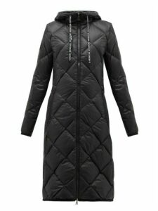 Moncler - Suvex Hooded Diamond-quilted Coat - Womens - Black