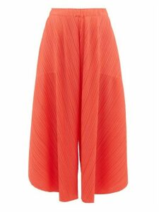 Pleats Please Issey Miyake - Curved Pleated Culottes - Womens - Coral