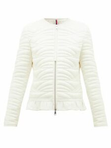 Moncler - Ambre Ruffled Quilted-down Jacket - Womens - Ivory
