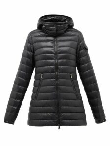 Moncler - Menthe Quilted-down Hooded Jacket - Womens - Black