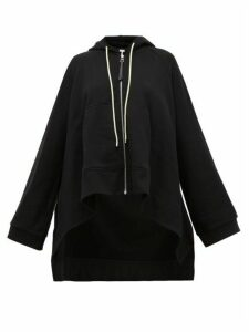 Loewe - Oversized Drawstring Hooded Cotton Sweatshirt - Womens - Black