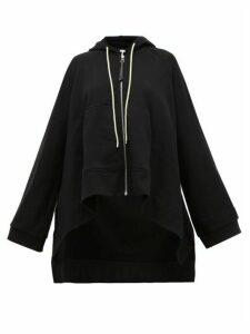 Loewe - Oversized Drawstring Hooded Cotton Sweatshirt - Womens - Black