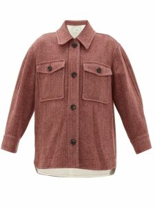 Isabel Marant Étoile - Garvey Wool-herringbone Shirt Jacket - Womens - Burgundy