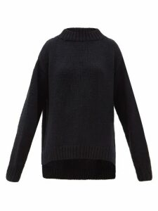 Marina Moscone - Oversized Chunky-knit Cashmere Sweater - Womens - Navy