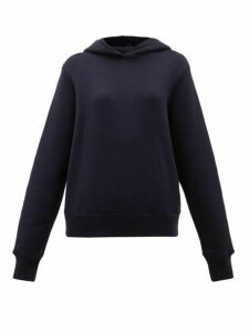The Row - Wren Cotton-terry Hooded Sweatshirt - Womens - Navy