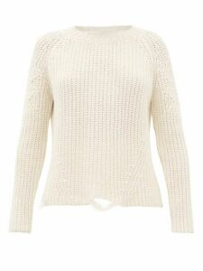 Brock Collection - Deconstructed Cashmere And Silk Sweater - Womens - Ivory