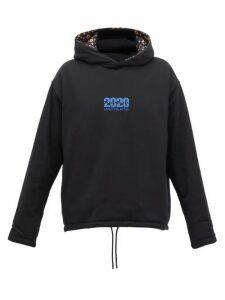 Martine Rose - Reversible Floral-print Hooded Sweatshirt - Womens - Black Multi