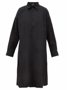 Eskandar - A-line Cotton-poplin Shirtdress - Womens - Black