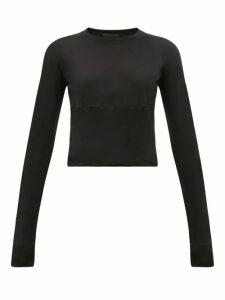 Wardrobe. nyc - Release 05 Hem-panel Long-sleeved Jersey T-shirt - Womens - Black