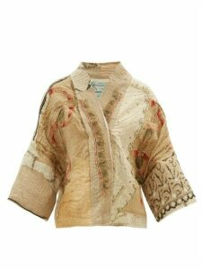 By Walid - Cassie Embroidered Silk Jacket - Womens - Ivory Multi