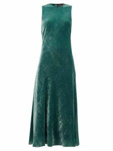 Sies Marjan - Viv Bias-cut Corduroy-velvet Dress - Womens - Green
