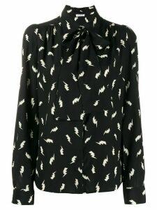 P.A.R.O.S.H. print bow tie blouse - Black