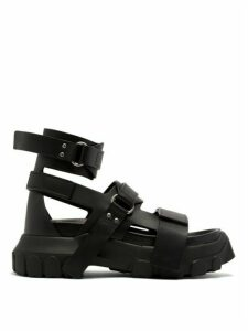 Rick Owens - Tractor-sole Leather Sandals - Womens - Black