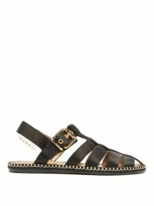 Marni - Satin Fisherman Sandals - Womens - Black