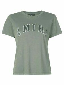 AMIRI College logo print T-shirt - Green